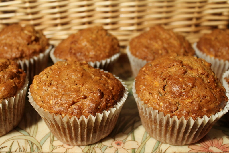 Seed and carrot muffin