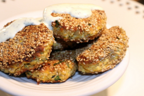 sesame and tofu fritters